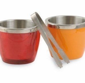 BoxinBag Jääpala-astia ja pihdit punainen