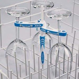 Boxinbag Glas Steam Grip Tiskikoneteline Viinilaseille Sininen
