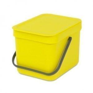 "Brabantia Paperikori ""SORT & GO"" 6 L keltainen"