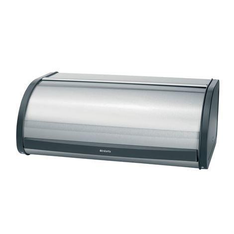 Brabantia Roll Top Leipälaatikko Keskikokoinen Matt Steel Matta Teräs
