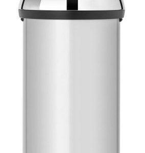 Brabantia Touch Bin® 60 L Briliant Steel kansi Metallic Grey
