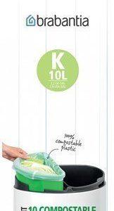 Brabantia Ympäristöystävällinen roskapussi K 10 L 10 kpl Green/White