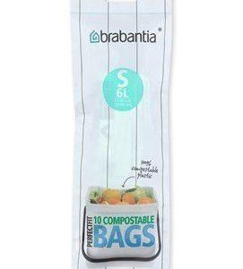 Brabantia Ympäristöystävällinen roskapussi S 6L 10 kpl Green/White