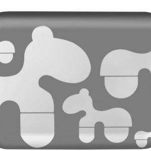 Brands Scandinavia Poni-tarjotin 43 x 32 cm harmaa