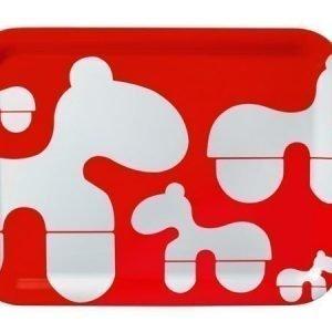 Brands Scandinavia Poni-tarjotin 43 x 32 cm punainen