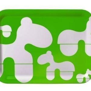 Brands Scandinavia Poni-tarjotin 43 x 32 cm vihreä