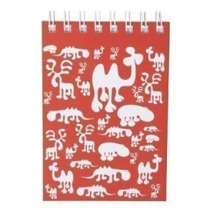 Brands Scandinavia Zoo Block muistikirja A6 punainen