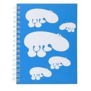 Brands Scandinavia Zoo Hippo muistikirja A5 sininen