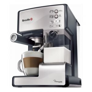 Breville Prima Latte Kahvikone Ruostumaton Teräs Hopea