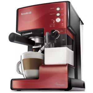Breville Prima Latte Kahvikone Ruostumaton Teräs Punainen
