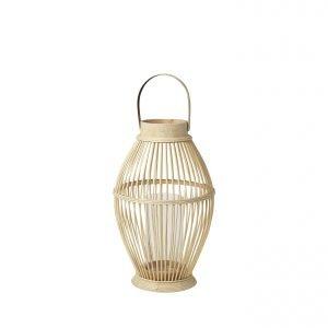 Broste Cage Kynttilälyhty Bambu / Lasi 42 Cm