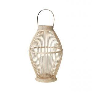 Broste Cage Kynttilälyhty Bambu / Lasi 52 Cm