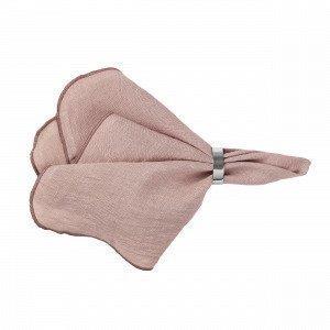 Broste Copenhagen Eko Gracie Pink Pellavalautasliina 45x45 Cm