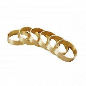 Broste Copenhagen Ring Brass Servettimansetit 6-Pakkaus 4.5x4.5 Cm