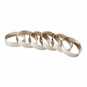 Broste Copenhagen Ring Iron Servettimansetit 6-Pakkaus 4.5x4.5 Cm