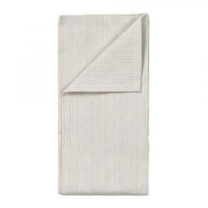 Broste Copenhagen Stribe Keittiöpyyhe Valkoinen / Sand 2-Pakkaus