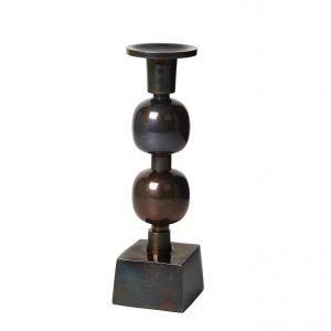 Broste Globe Kynttilänjalka Musta 23 Cm