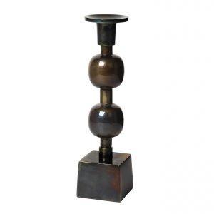 Broste Globe Kynttilänjalka Musta 27 Cm