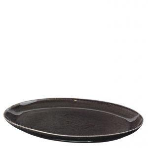 Broste Nordic Coal Tarjoiluvati Ovaali Tummanharmaa 26x35.5 Cm