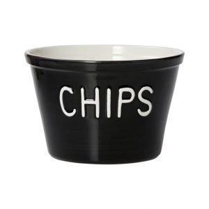 Bruka Chips Kulho cm musta
