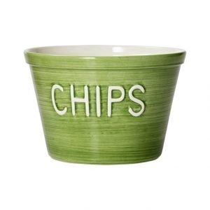 Bruka Chips Kulho cm vihreä