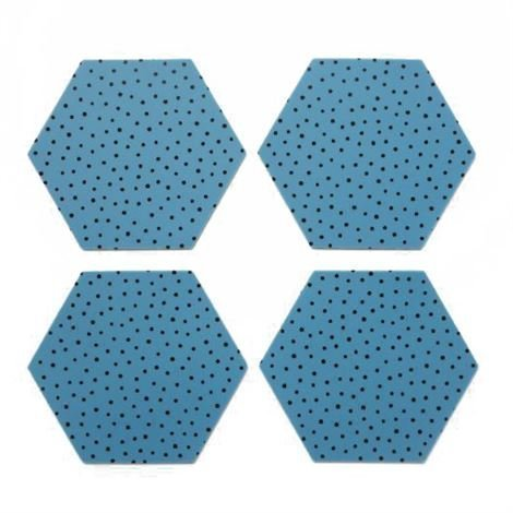 By May Polygon Lasinalusta 4 kpl Blue Sininen