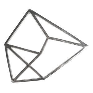 By On Trivet Torre Silver 25x20 Cm