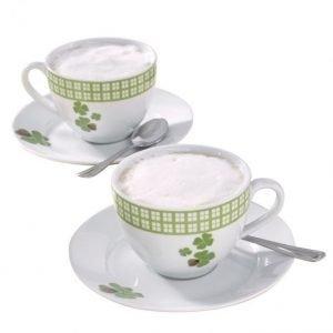 Cappuccinokuppi 2-Pakkaus Valkoinen