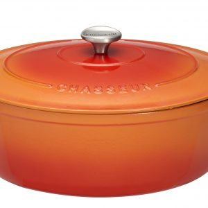 Chasseur Pata Ovaali Valurauta Flame Orange 4.5 L