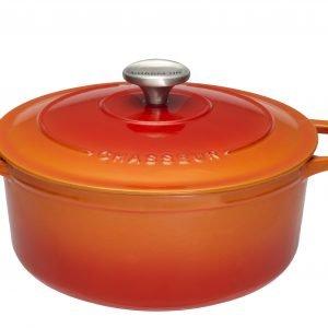 Chasseur Pata Pyöreä Valurauta Flame Orange 4 L