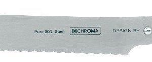 Chroma Type 301 Leipäveitsi Ruostumaton Teräs 21 Cm