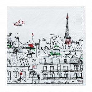 Ciel Paris Paperiservetit Valkoinen