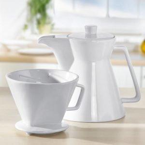 Cilio Vienna Kahvipannu Ja Kahvisuodatin Settinä Valkoinen