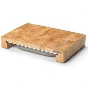 Continenta Leikkuulauta ja laatikko kumipuuta 39x27x6 cm