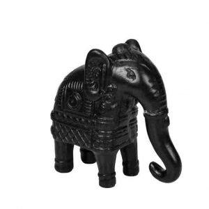 Day Home Koriste Elefantti Musta 19 Cm