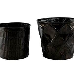 Day Home Pot Camp Ruukku Metalli Musta 2 Kpl