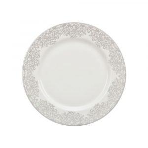 Denby Filigree Jälkiruokalautanen Valkoinen 22 Cm