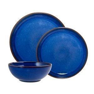 Denby Imperial Blue Aamiais Setti 12-Osainen
