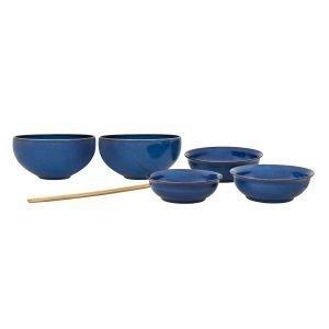 Denby Imperial Blue Asian Ruoka Astiasto 7-Osainen
