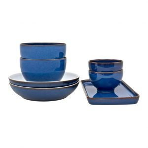 Denby Imperial Blue Ruoka Astiasto 7-Osainen