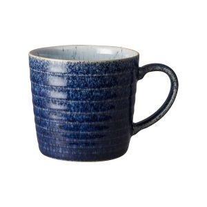 Denby Studio Blue Ridged Muki Cobalt / Pebble 40 Cl