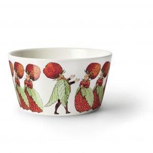 Design House Stockholm Elsa Beskow Strawberry Family Kulho 13 Cm