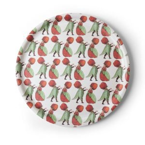 Design House Stockholm Elsa Beskow Strawberry Family Tarjotin Pyöreä 35 Cm