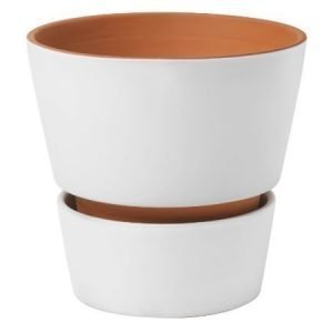 Design House Stockholm Open Flower Pot ruukku valkoinen
