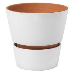 Design House Stockholm Open Flower Pot ruukku valkoinen