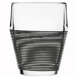 Design House Stockholm Timo Termo Lasi Clear / Musta 2-Pakkaus