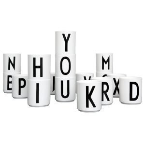 Design Letters Arne Jacobsen C Kuppi Valkoinen