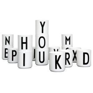 Design Letters Arne Jacobsen Q Kuppi Valkoinen