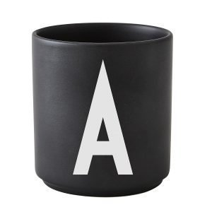 Design Letters Arne Jacobsen V Kuppi Musta