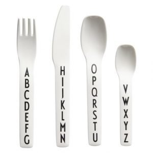 Design Letters Kids Melamine Cutlery Aterinsetti